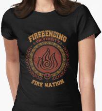 Firebending university Women's Fitted T-Shirt
