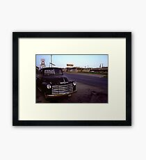 Motel Mid America Framed Print