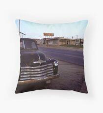 Motel Mid America Throw Pillow