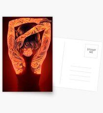 Glowing Tattoos Postcards