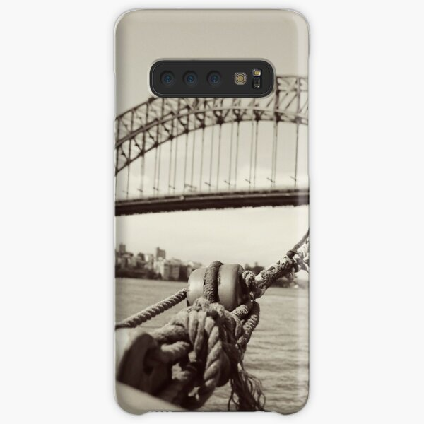 View of harbour bridge from tall ship Samsung Galaxy Snap Case
