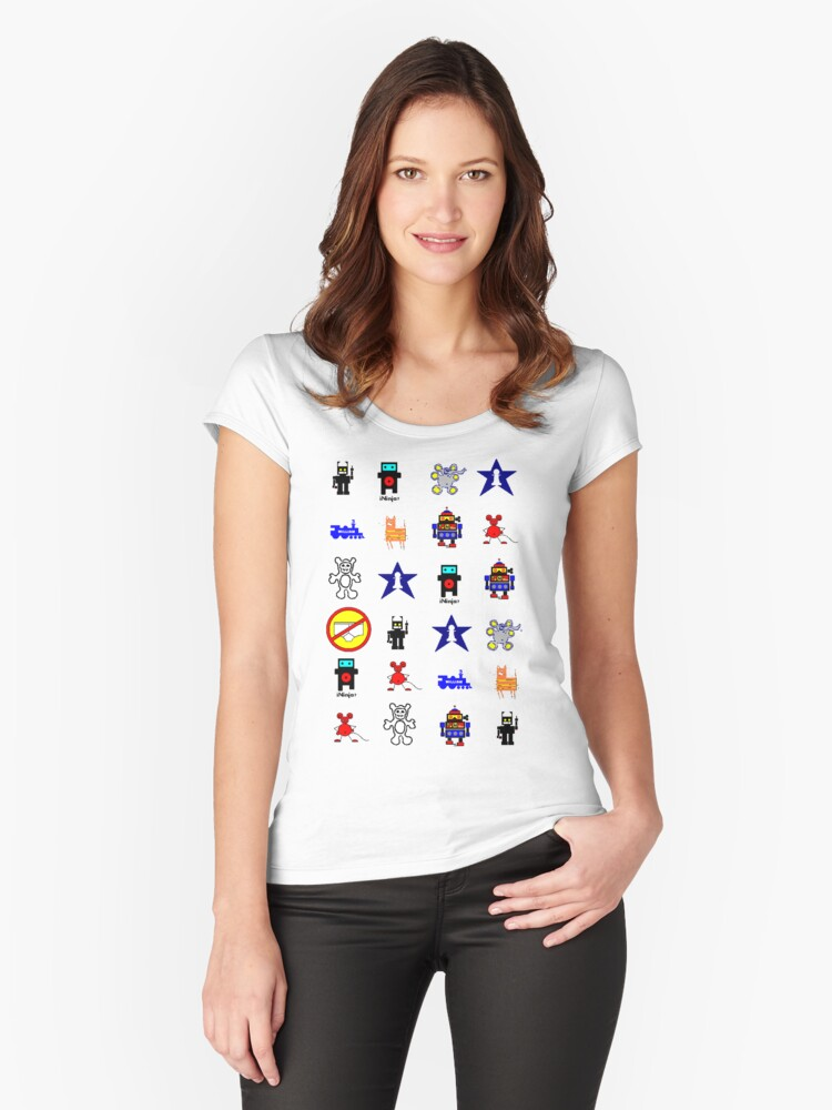 Everybody's Here (unisex awww yeah!) Women's Fitted Scoop T-Shirt Front
