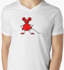 Red Mouse T (ummm...hmmmm yeah unisex) Mens V-Neck T-Shirt