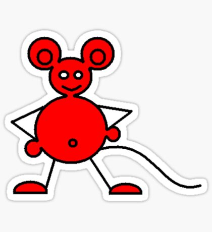 Red Mouse T (ummm...hmmmm yeah unisex) Sticker