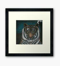 original acrylic tiger painting Framed Print