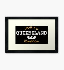 Property of QLD Framed Print