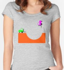 Forky Skate Bowl Women's Fitted Scoop T-Shirt