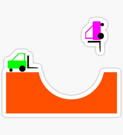 Forky Skate Bowl Sticker