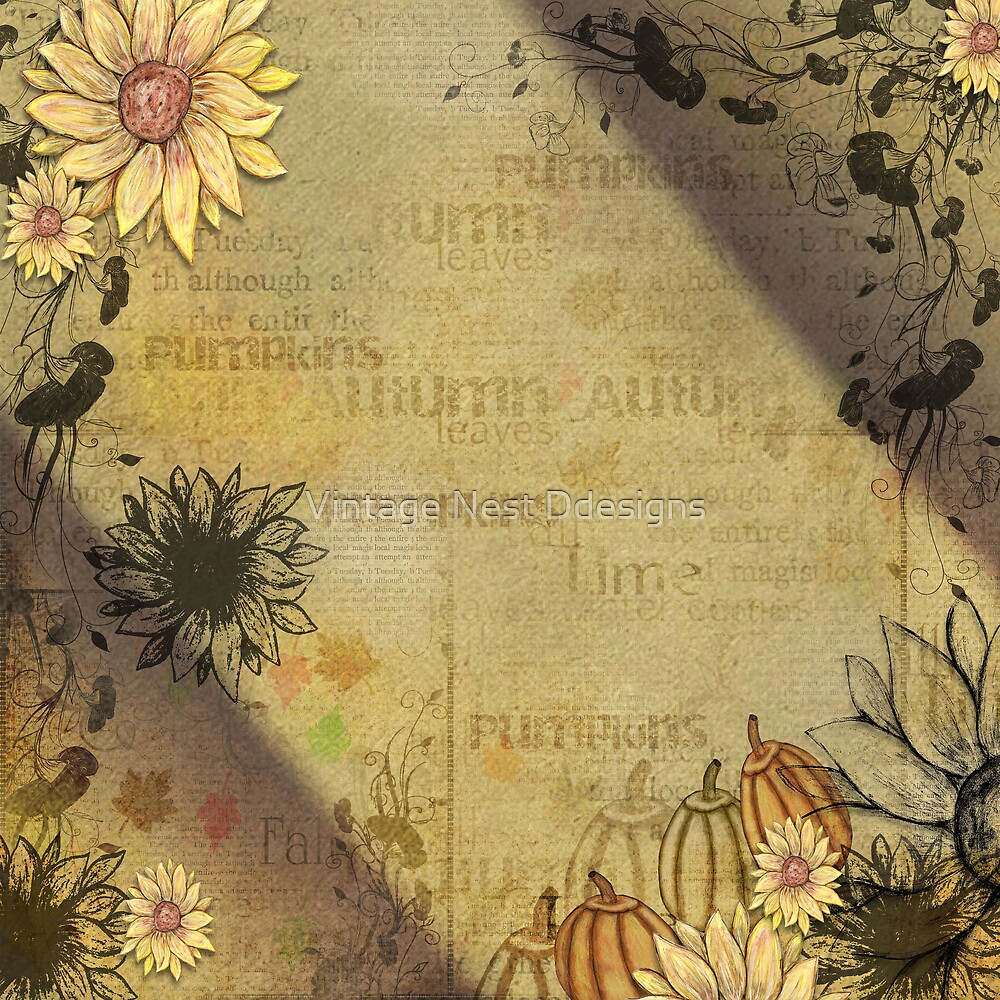 Fall Sunflowers by Vintage Nest Ddesigns