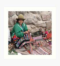 Market stall, Peru Art Print
