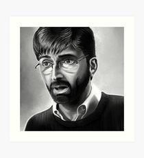 Alec Hardy Broadchurch David Tennant Digital Painting Art Print