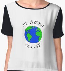 My Home Planet Chiffon Top