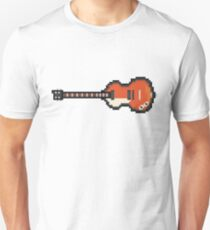 Pixel Violin Lefty Bass Guitar Unisex T-Shirt
