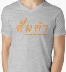 Som tam, tastes of Isan. Men's V-Neck T-Shirt