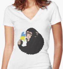 chimp Chimp Women's Fitted V-Neck T-Shirt