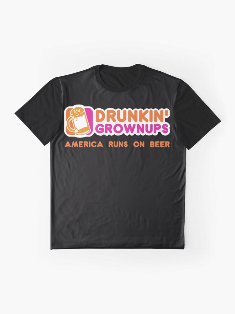 Alternative Ansicht von Drunkin Grownups (Amerika Version) Grafik T-Shirt