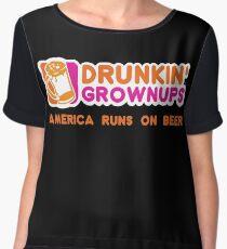 Drunkin Grownups (America Version) Women's Chiffon Top