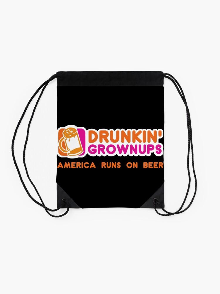 Alternative Ansicht von Drunkin Grownups (Amerika Version) Turnbeutel
