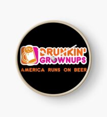 Drunkin Grownups (America Version) Clock