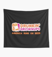 Drunkin Grownups (America Version) Wall Tapestry