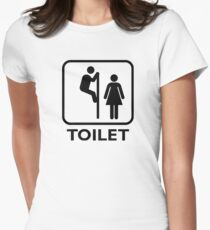 Toilet Cubicle Women's Fitted T-Shirt