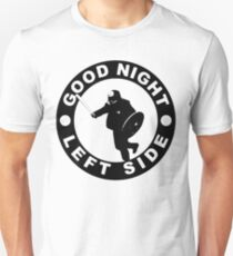 GOOD NIGHT LEFT SIDE - Stick Man Skull Smashing Unisex T-Shirt