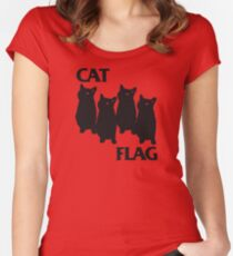 Cat Flag Women's Fitted Scoop T-Shirt