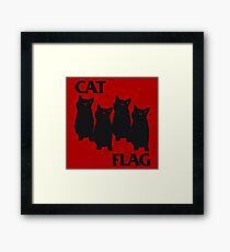 Cat Flag Framed Print