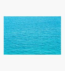 Blue Ocean Water Texture Background Photographic Print