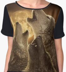 Beautiful  Wolf Women's Chiffon Top