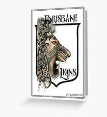 Brisbane Lions AFL Football Greeting Card