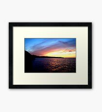 Whitby Sunset Framed Print