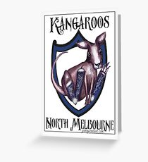 North Melbourne AFL Kangaroos Greeting Card