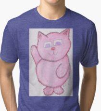 Pinkie Kitty Tri-blend T-Shirt