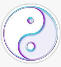 Yin & Yang Symbol in Pink / Light Blue / Purple Sticker