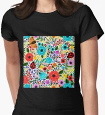 Floral Women's Fitted T-Shirt