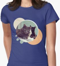 Cats in love. Pair of cats Womens Fitted T-Shirt