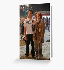 Zooey Deschanell & Jake Johnson - Nick & Jess New Girl Greeting Card