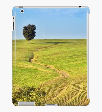 The tree and the furrows iPad Case/Skin