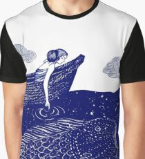 The Blue Shimmering Sea Lights Graphic T-Shirt