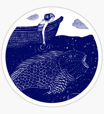 The Blue Shimmering Sea Lights Sticker
