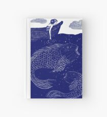 The Blue Shimmering Sea Lights Hardcover Journal
