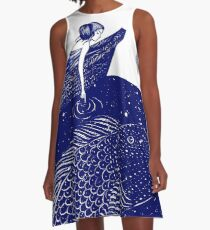The Blue Shimmering Sea Lights A-Line Dress