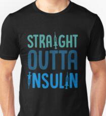 Straight Outta Insulin Health Shots Diabetes Care T-Shirt