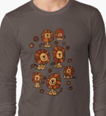 Cute Flower Cartoon Lions by Cheerful Madness!! Long Sleeve T-Shirt