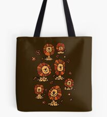 Cute Flower Cartoon Lions by Cheerful Madness!! Tote Bag