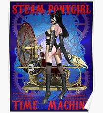 Steampunk Pony Girl Time Machine Poster