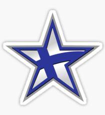 Finnish American Star Sticker