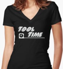 Tool Time Women's Fitted V-Neck T-Shirt