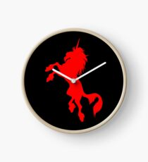 Red Unicorn by Cheerful Madness!! Clock